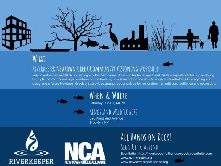 Newtown Creek Community Visioning Workshop Flyer